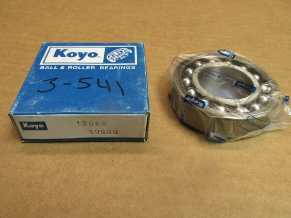 KOYO 1206K SELF ALIGNING BEARING 1206 K 30x62x16 mm JAPAN