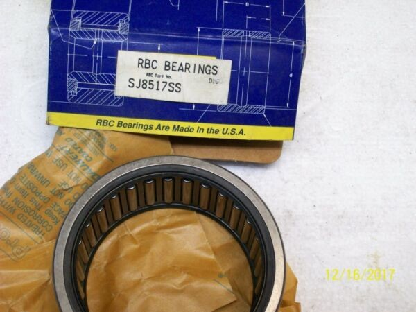 NEW RBC BEARINGS PITCHLIGN DOUBLE SEAL NEEDLE ROLLER BEARING SJ8517SS