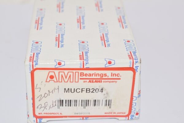 NEW AMI Bearings MUCFB204 Flange-Mount Stainless Ball Bearing Unit 20mm