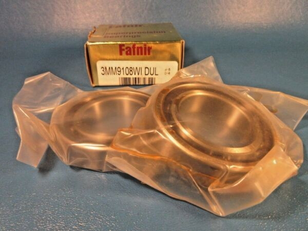 Fafnir 3MM9108WI DUL, Duplex Set Angular Contact Precision Ball Bearing (Timken)