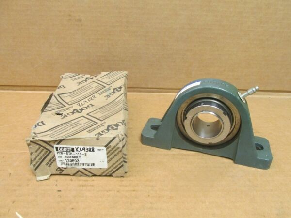NIB DODGE P2B-GTH-111-E 2 BOLT PILLOW BLOCK BEARING UNIT 130693 1-11/16