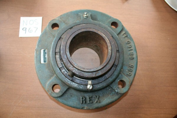 NOS Rexnord ZBR-2307 3-7 1/16 inch Bore Flange Bearing 4 bolt mount  C